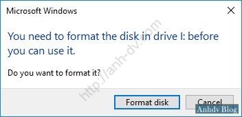 USB đòi Format