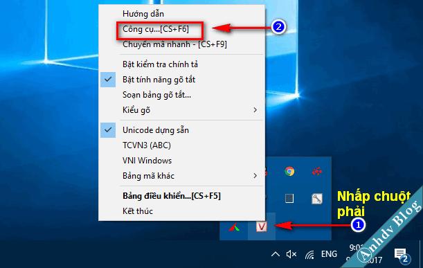 Chuyển font sang unicode với Unikey