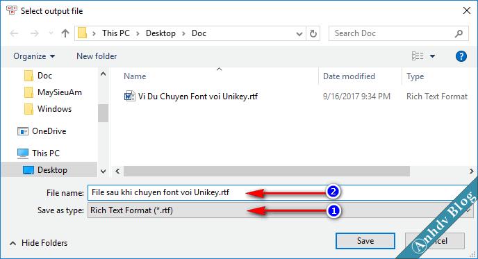 Chuyển font chữ Tiếng Việt sang Unicode với Unikey 3