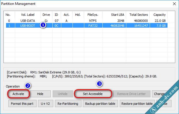 Set Active và hiện phân vùng boot ẩn với Bootice