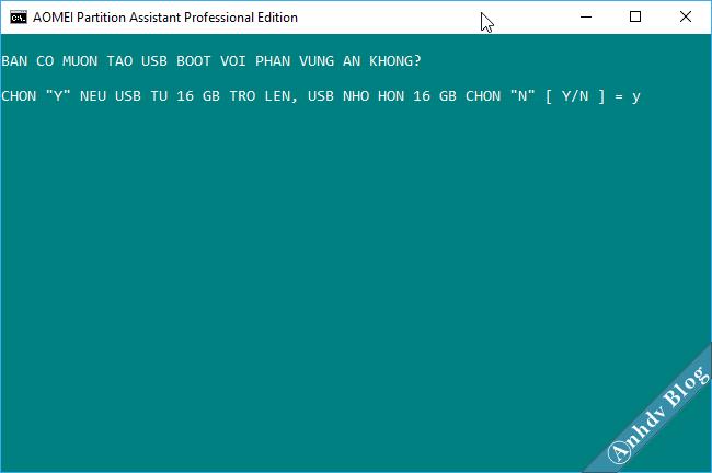 1 click tạo usb boot uefi legacy 2