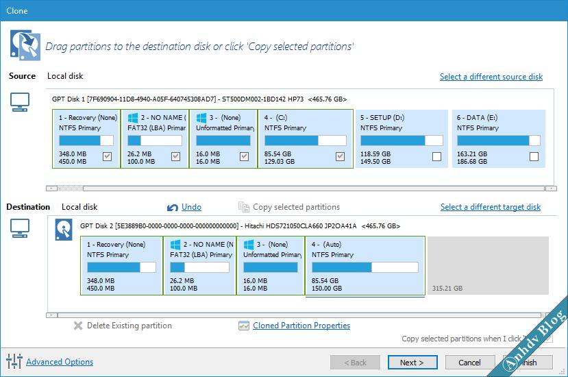 Di chuyển Windows sang ổ cứng mới với Macrium Reflect