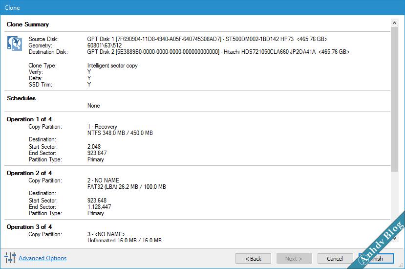 Chuyển hệ điều hành Windows sang ổ cứng mới SSD với Macrium Reflect
