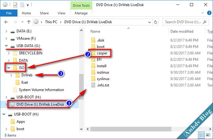Thêm phần mềm quét virus ESET và Dr.Web vào Anhdv Boot