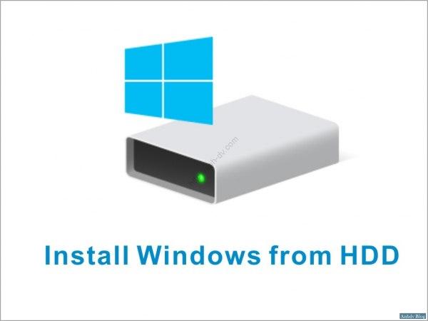 Cài đặt Windows từ ổ cứng