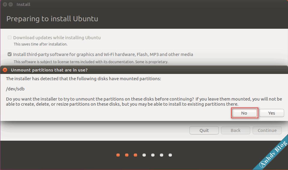 Cài đặt song song Ubuntu và Windows 10 - Unmount