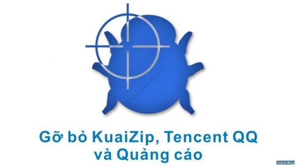 Gỡ bỏ quảng cáo, phần mềm trung quốc kuaizip, tencent
