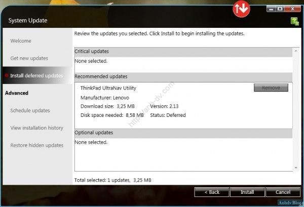 Cài đặt driver tự động cho Lenovo download only