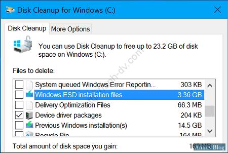 dọn dẹp file hệ thống của ổ đĩa