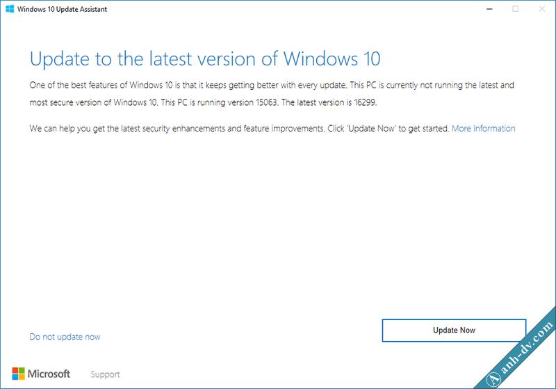 Nâng cấp lên Windows 10 1709 Fall Creator