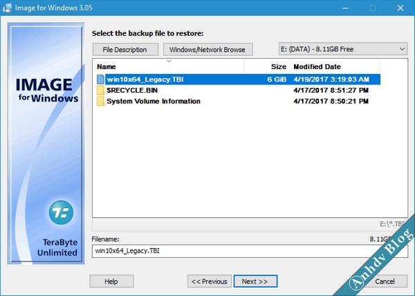 Bung file ghost với Terabyte 1
