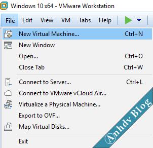 Hướng dẫn sử dụng VMware tạo máy ảo toàn tập – Phần 1