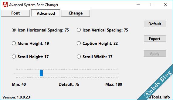 Thay đổi font chữ windows