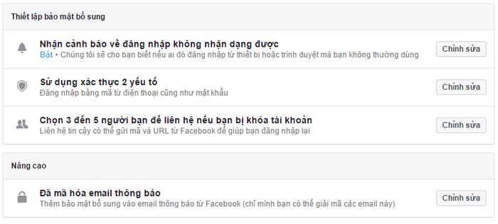 Thiết lập bảo mật 2 lớp cho facebook 2
