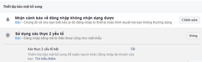 Thiết lập bảo mật 2 lớp cho facebook 8