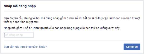 Thiết lập bảo mật 2 lớp cho facebook 9