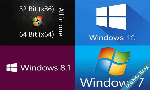 Windows 10-8-7 AIO cập nhật mới nhất