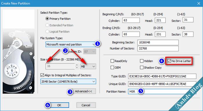 Cài đặt Windows UEFI-Legacy MSR