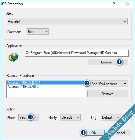 Thiết lập tường lửa, chặn IP, Chặn Website ESET 2