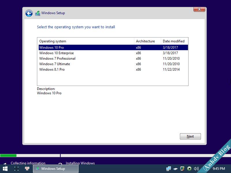 Bộ cài Windows 10-8.1-7 AIO 32 bit