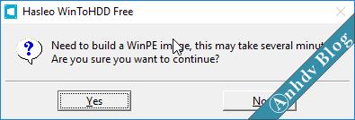 Tạo WinPE khi dùng WinToHDD