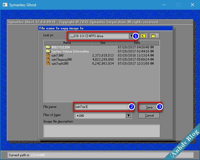 Tạo file ghost GHO win UEFI và Legacy 3