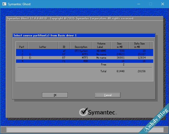 Tạo file ghost GHO win UEFI và Legacy 4-