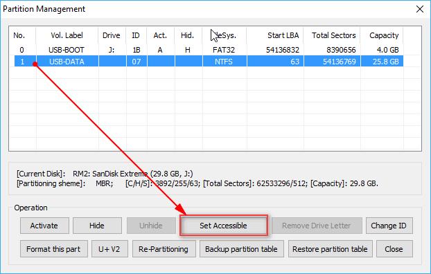 Sửa lỗi hiện phân vùng BOOT, mà ẩn phân vùng DATA