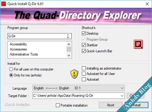 cài phần mềm quản lý file Q-Dir