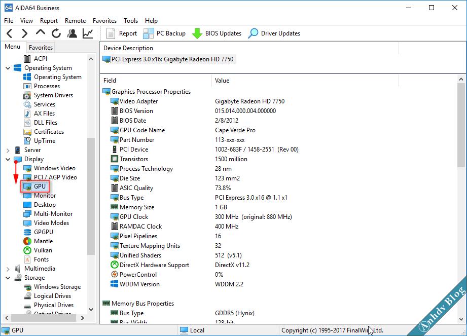 Xem thông tin GPU với AIDA64