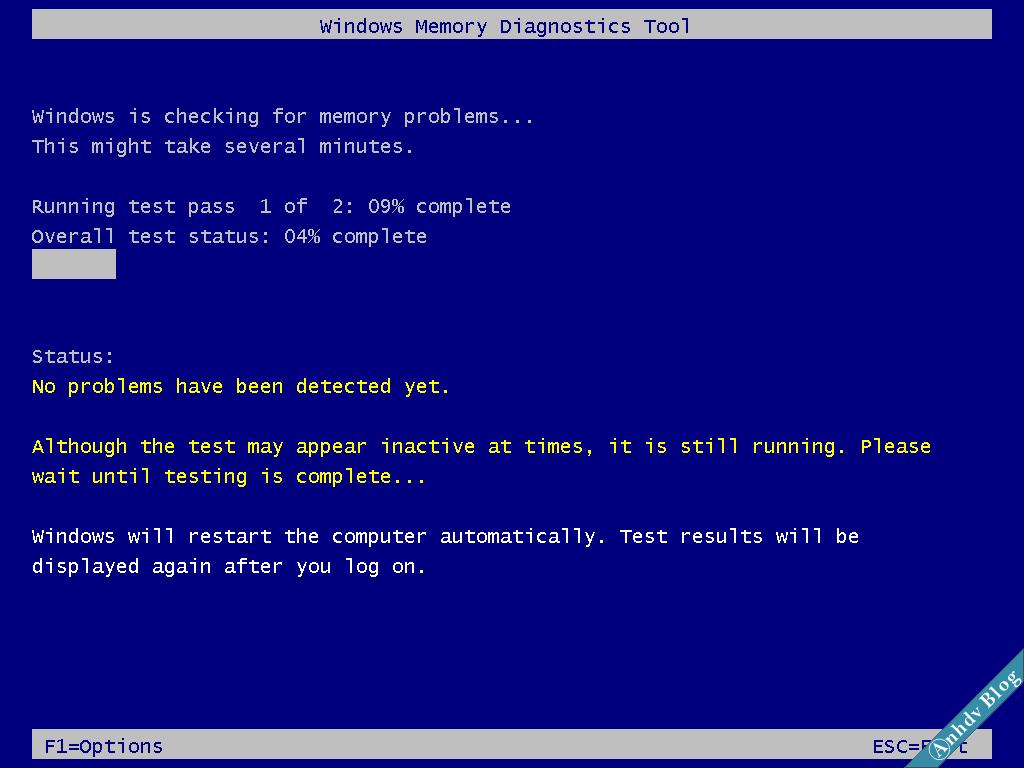 Kiểm tra lỗi RAM