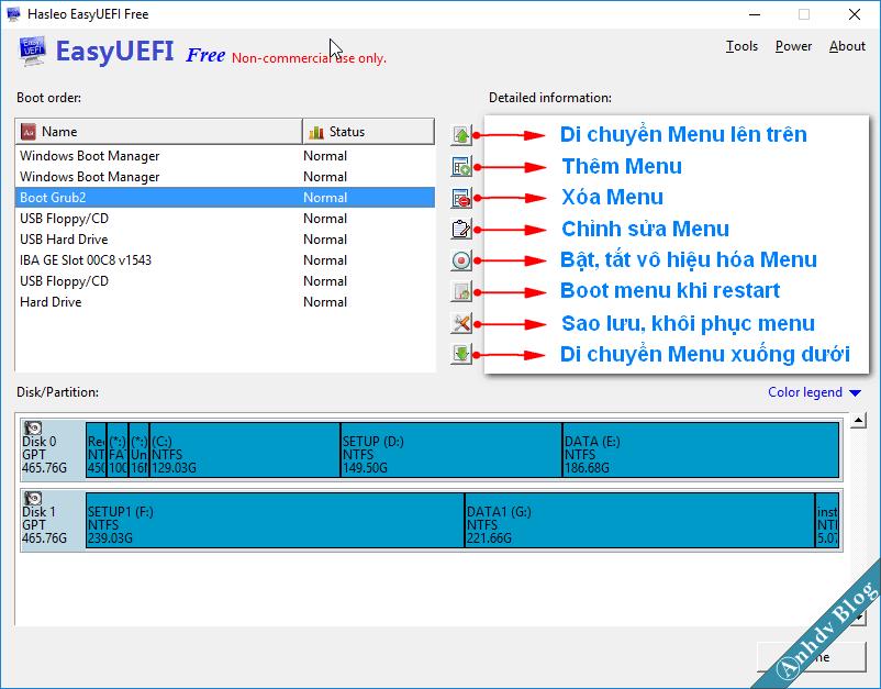 Quản lý EFI Boot Option với EasyUEFI