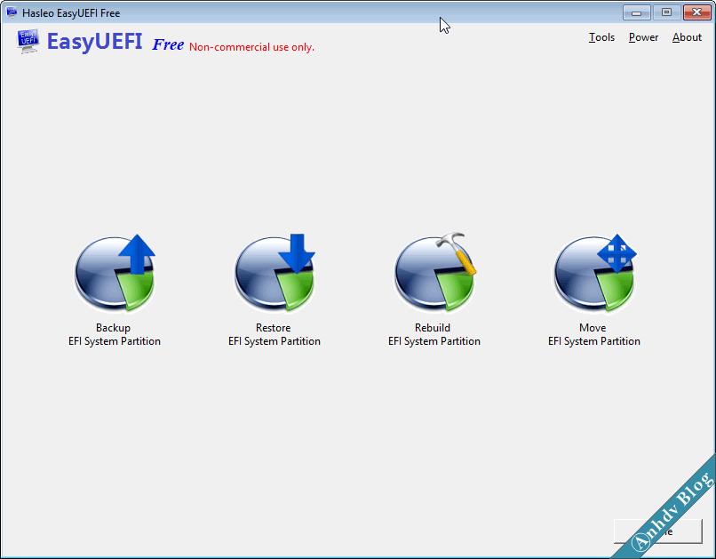 Quản lý phân vùng EFI với EasyUEFI