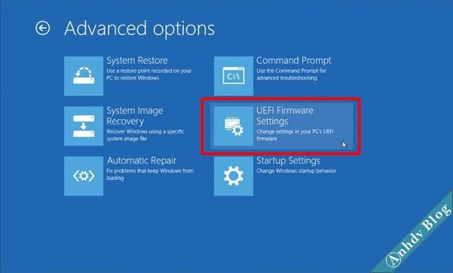 Cách vào UEFI Firmware Settings