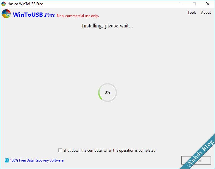 Cài dặt Windows lên USB với WinToUSB