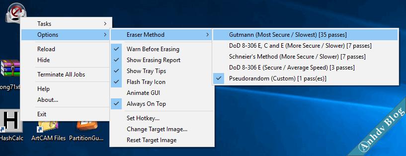 Cài đặt phần mềm xóa dữ liệu vĩnh viễn EraserDrop