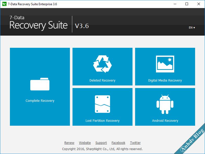 Phần mềm khôi phục dữ liệu 7 Data Recovery