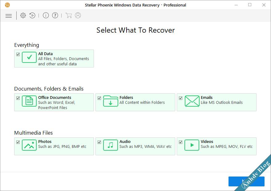 Phần mềm khôi phục dữ liệu Stellar Recovery Data