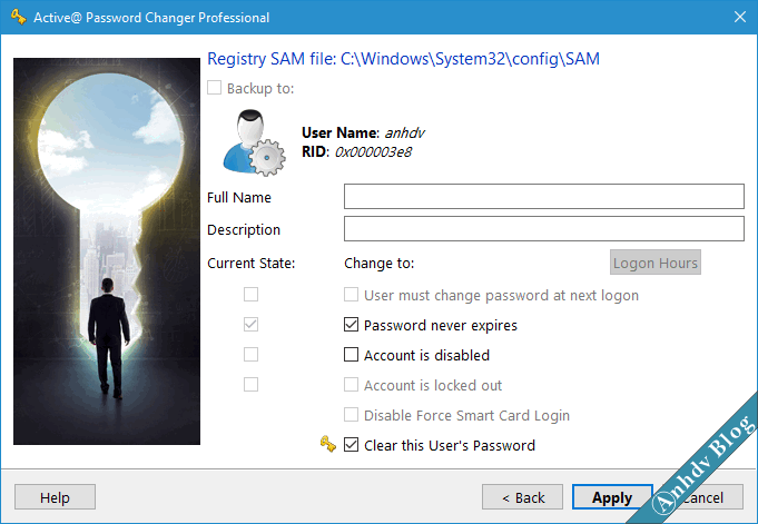 Reset mật khẩu windows bằng Active Password changer 5