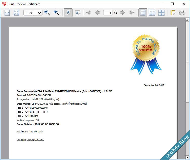 Xóa dữ liệu vĩnh viễn với KillDisk 5