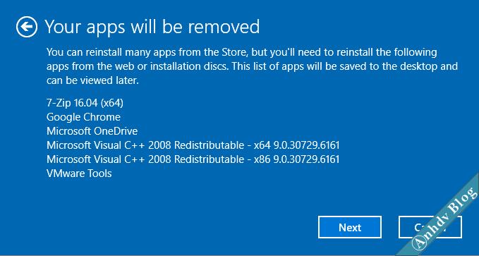 Sử dụng Fresh Start trên Windows 10 5