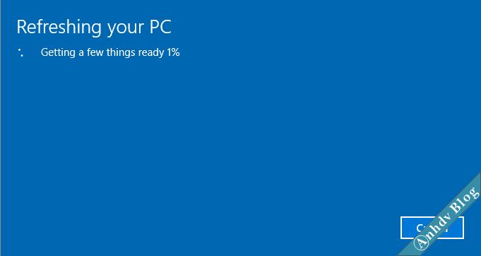 Sử dụng Fresh Start trên Windows 10 7