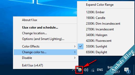 Phần mềm bảo vệ mắt khi sử dụng máy tính Flux 4