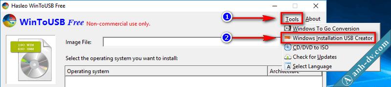 Hướng dẫn tạo usb boot cài win với WinToUSB 10, 8, 7, AIO UEFI Legacy 1