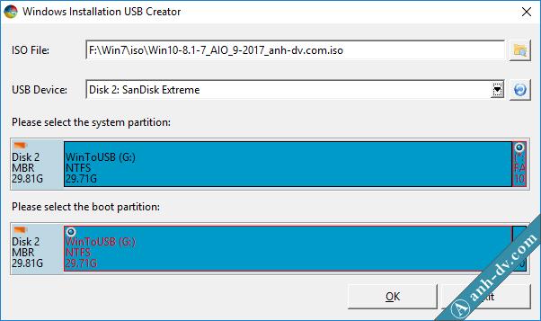 Hướng dẫn tạo usb boot cài win 10, 8, 7, AIO UEFI Legacy 4