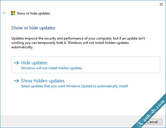 Phần mềm Show or Hide Update giúp ngăn chặn windows udpate 2