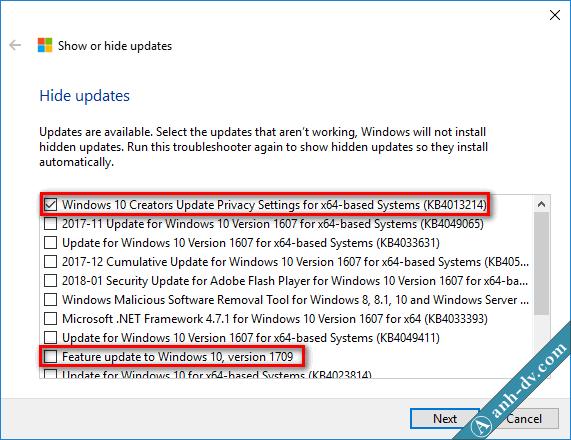 Hướng dẫn cách chặn windows 10 cập nhật lên phiên bản mới 1703, 1709