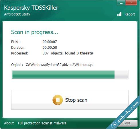 Sửa lỗi tự xóa Unikey với TDSSKiller