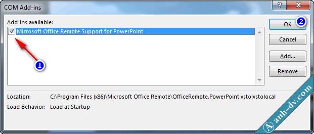 Thêm Add-in vào PowerPoint