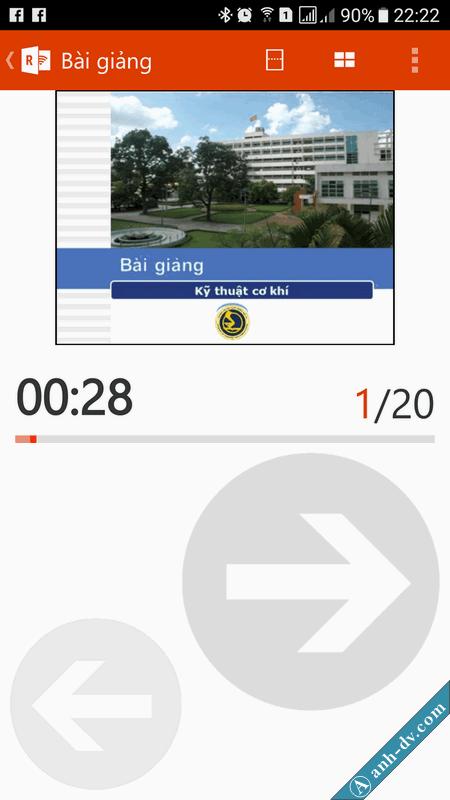 điều khiển trình chiếu slide powerpoint bằng điện thoại với Office Remote 6